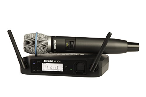 (Shure GLXD24/BETA87A | Digital Vocal Handheld Wireless System BETA 87A Microphone Z2 Band 2.4 GHz)
