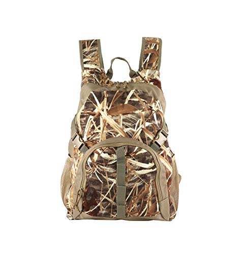 (Auscamotek Duck Hunting Gear Camo Backpack with Blind Material Camouflage Day Pack Waterproof Dry Grass )