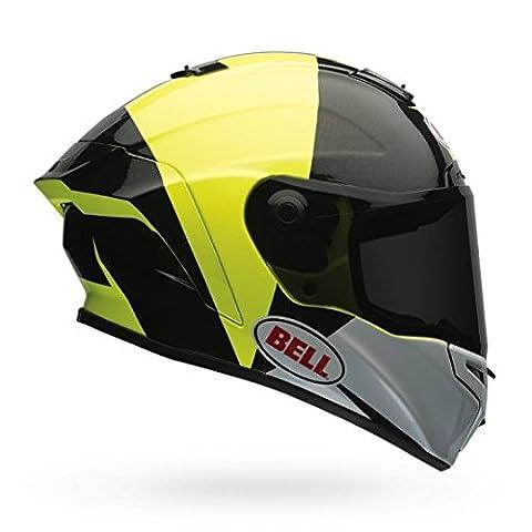 Bell Star Unisex-Adult Full Face Street Helmet (Spectre Black/Yellow, Medium) (D.O.T.-Certified)
