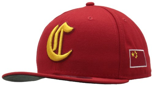 (World Baseball Classic 2013 China Official On-Field 5950 Fitted Cap, Red, 7)