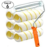 Case of 6, 7 Piece 9 inch Heavy Duty High Density Acrylic Paint Kits,Paint Roller Covers 9 inch,Paint Roller,Paint Rollers,Paint Roller kit,Paint kit,Paint Roller Frame,Tool Set,Home Repair Tools