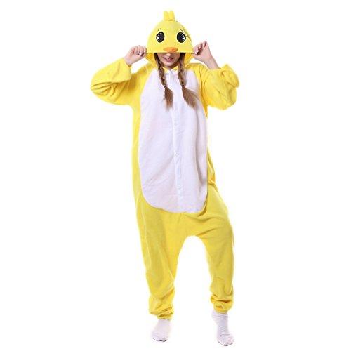 Unisex Adult Animal Pajamas Custome Cosplay for Halloween Christmas (Large, Duck) ()