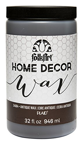 FolkArt Home Decor Chalk Furniture & Craft Paint in Assorted Colors (32 Ounce), 34884 Antique Wax