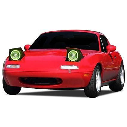 Amazon com: FLASHTECH Mazda Miata 90-7, Green Single Color LED Halo