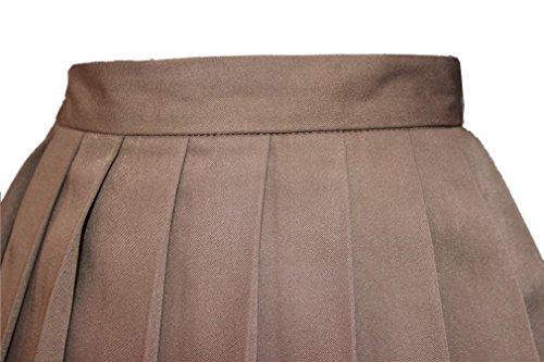 s school high waist flat pleated skirts xl