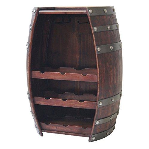 wood barrel wine rack - 7