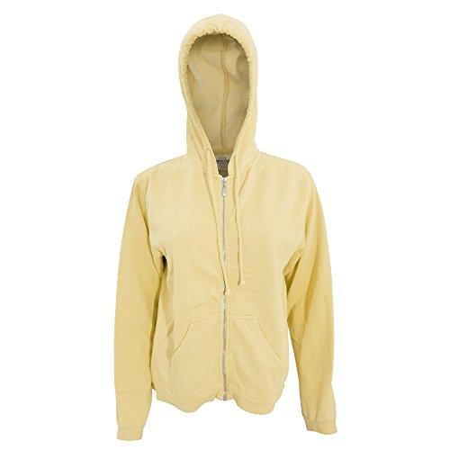 Comfort - Chaquetilla con capucha y cremallera para mujer (Pequeña (S)/Rosa)