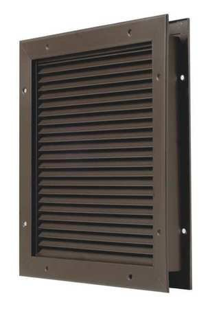 National Guard L700BFDKB18X18 L-700-Bfdkb-18X18 Part Louver Steel 18 x 18'' , 18'' Height, Bronze