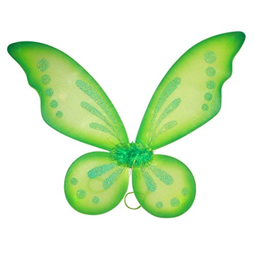 [Green Pixie Tinkerbell Style Wings] (Tinkerbell Fairy Costumes For Women)