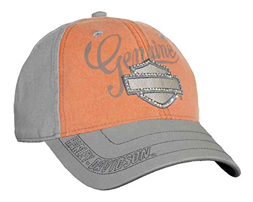 (Harley-Davidson Women's Embellished Bar & Shield Baseball Cap, Washed BC114479)