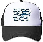Waldeal Ocean Shark Floral Sea Fish Adjustable Mesh Hat Baseball Trucker Cap for Boys and Girls