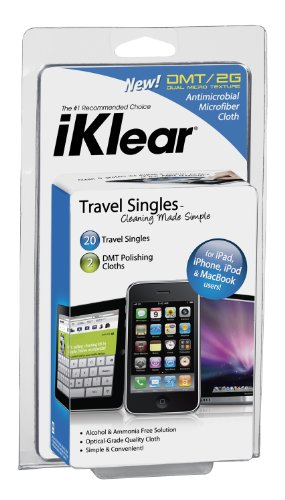 iKlear Travel Singles for iPad, iPhone, MacBook Pro and (Iklear Travel Singles)