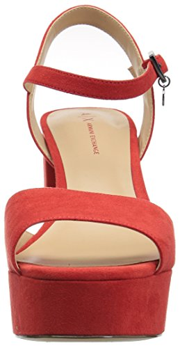 Exchange Heel Women's Sandal Heeled Strappy Poppy Red Armani Cq1xnd41