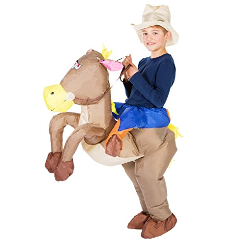 Bodysocks - Inflatable Cowboy Piggyback Horse Animal Children's Fancy Dress Costume