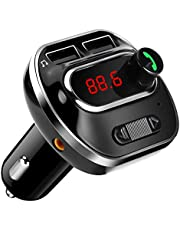 ARINO FM Trasmettitore Bluetooth da Auto Radio Wireless Adattatore Chiamate Vivavoce con Doppia Porta USB, Ingresso AUX, Display LCD, Funzione di Memoria, Scheda TF, per IOS / Android