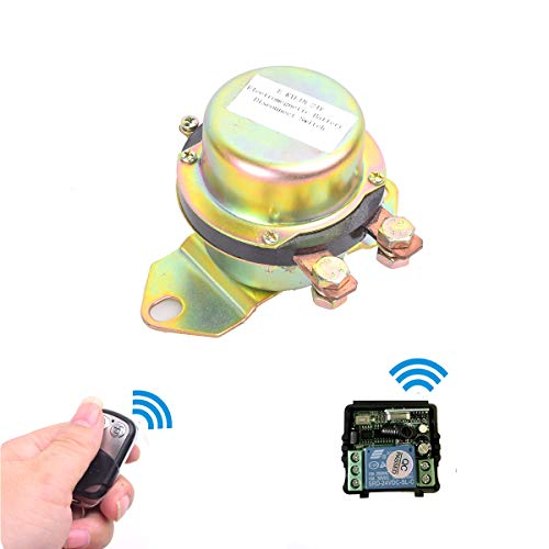 - Car Wireless Remote Control Battery Switch Disconnect Latching Relay Anti-theft, EKYLIN DC 24V Electromagnetic Solenoid Valve Terminal Master Kill System