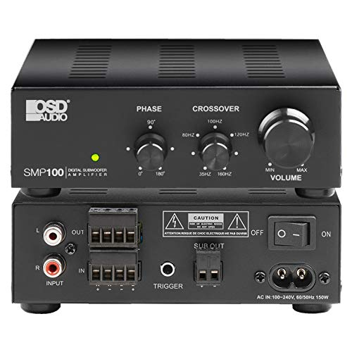 OSD Audio SMP100 Class D Digital Subwoofer Amplifier Rated at
