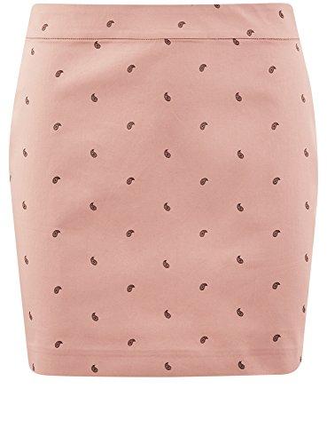4a29o Tissu de Mini Jupe Rose en oodji Femme Ultra Coton qyvwXczHn