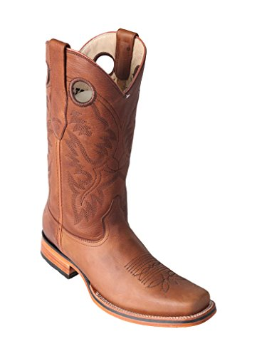 Wide Skin Sole Honey Rodeo Western Altos with Boots Genuine Los Leather Cowhide Leather Boots Men's Square TU0HEq