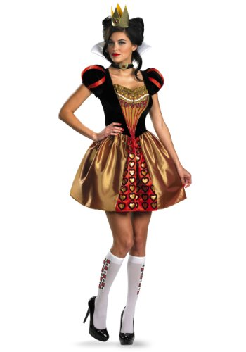 [Disguise Women's Alice In Wonderland Movie Sassy Queen Costume, Red, Womens L (12-14)] (Good Couple Halloween Costumes)