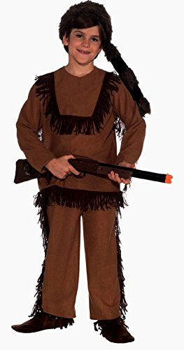Davey Crockett Child Boy's Costume Hat Racoon Fur Hat Western Legend Wild West
