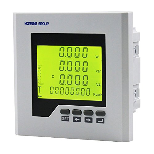 Morning Group 3 Phase LCD Digital Display Current Voltage Multifunction Energy Power Panel Meter With RS485 Modbus Communication For Distribution Box(3D2Y(Panel Size:4.724.72in))