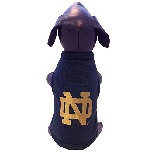 All Star Dogs NCAA Notre Dame Fighting Irish Sleeveless Polar Fleece Dog Sweatshirt