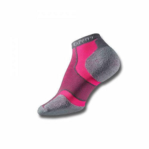 Thorlo Men's Experia CoolMax Micro Mini Crew Sock, Pink Vibe, 9 - Coolmax Mini Socks