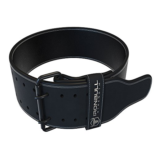 Iron Bull Strength Powerlifting Belt - 10mm Double Prong - 4-inch Wide - Heavy Duty for Extreme Weight Lifting Belt (All Black, XX-Large) by Iron Bull Strength (Image #3)