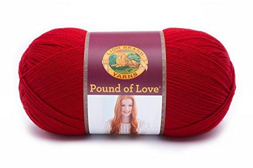 - (1 Pack) Lion Brand Yarn 550-114 Pound of Love Yarn, Cherry