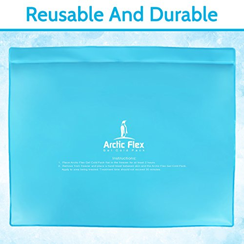 Arctic Flex Gel Ice Pack - Cold Therapy Ice Bag - Reusable Medical Freezer Pad - Hot/Heated Compress Wrap for Knee, Shoulder, Back and Ankle - Flexible, Soft & Instant (11'' x 14'') by Arctic Flex (Image #7)