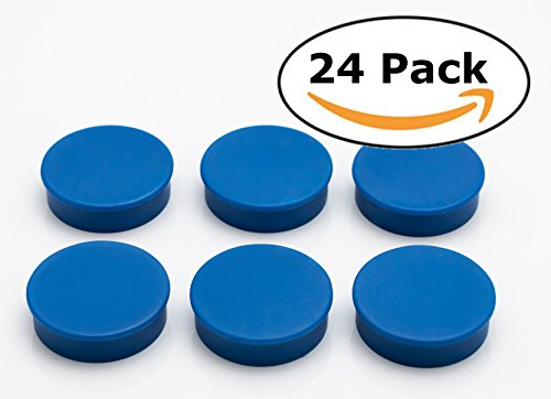- Bullseye Office Magnets (24 Pack) - Blue Round, Refrigerator Magnets - Perfect as Whiteboards, Lockers, or Fridge Magnets [Blue]