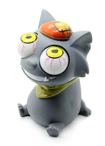 Pop Eyes Squeeze Smiling Gray Cat product image