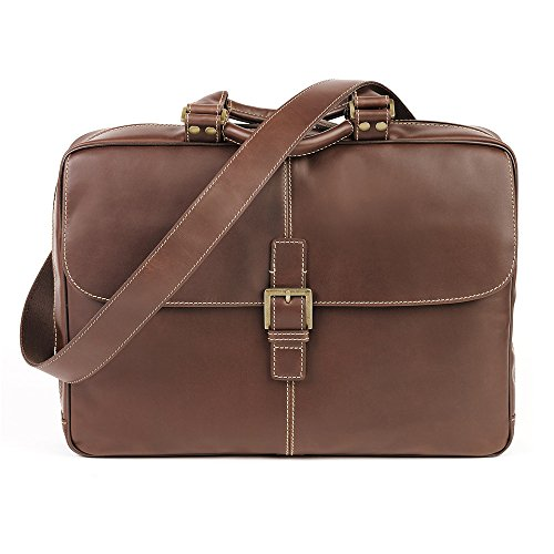 - Boconi Bryant Laptop Analyst Bag (Antiqued Mahogany with Houndstooth)