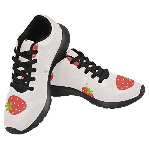 Go Comfort Running Womens Jogging Easy Cute Multi Running Walking Shoes Sneaker Casual Lightweight InterestPrint 1 Strawberry Pattern Seamless nXAqzxv