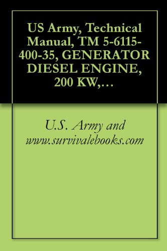 US Army, Technical Manual, TM 5-6115-400-35, GENERATOR DIESEL ENGINE, 200 KW, 60 CYCLE, AC, 120/208, 240/416 V, 3 PHAS CONVERTIBLE TO 167 KW, 50 CYCLE