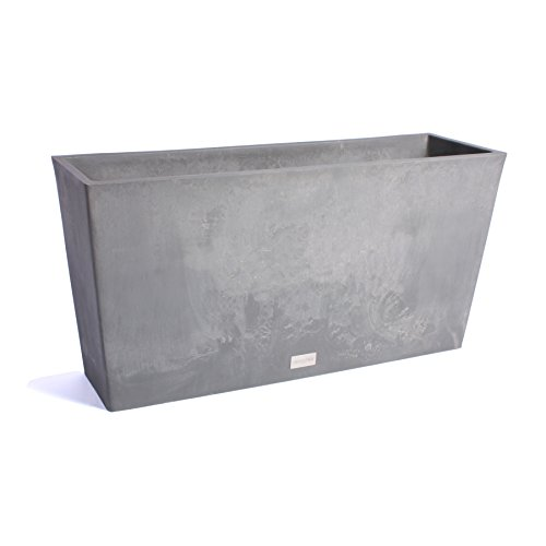 Veradek Midori Long Trough Planter, 20-Inch Height by 12.5-Inch Width by 39-Inch Length, Charcoal (MLO39C) by Veradek