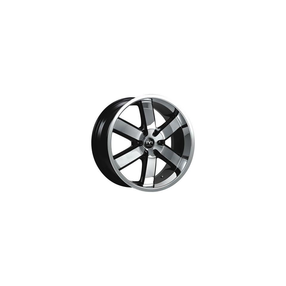 Motiv Magnum 20x9 Chrome Black Wheel / Rim 6x135 with a 30mm Offset and a 87.10 Hub Bore. Partnumber 403CB 2906330