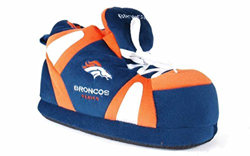 DEN01-1 - Denver Broncos - Small - Happy Feet & Comfy Feet NFL Slippers Nfl Foam