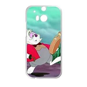HTC One M8 Phone Case White Alice in Wonderland White Rabbit YU9402314