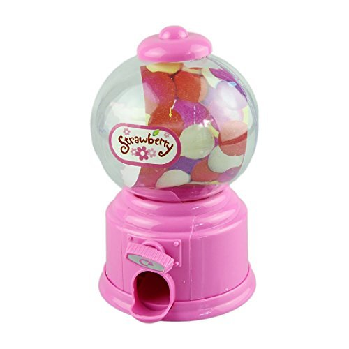 Outtop Candy Machine Piggy Bank Atm Money Box Classic Gumball Machine Bank,Pink
