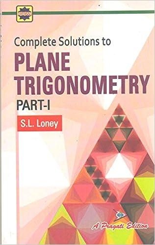 Sl Loney Plane Trigonometry Part 1 Pdf