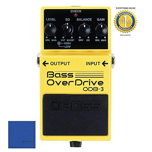 Boss ODB-3 Bass Overdrive Pedal with 1 Year Free Extended Warranty