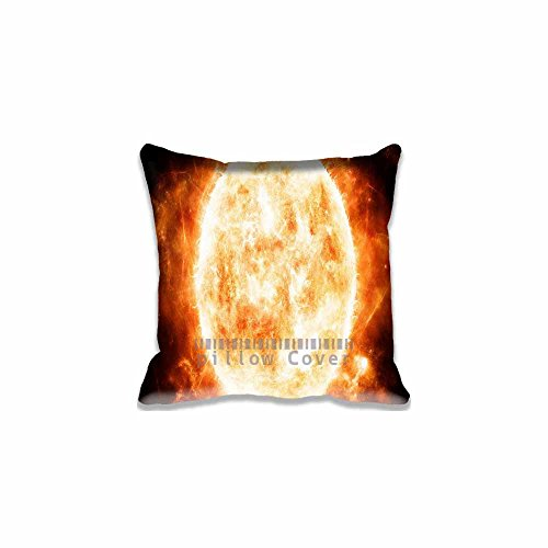 Sun Chair Seat Back Office Cushion Cover Cotton Polyester Throw Pillow Case Decorative Pillowcase Square Pillow Sham 18x18Inch