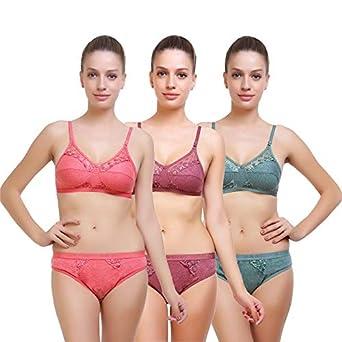 9f70f7928b SK Dreams Cotton Women s Bra   Panty Set  Combo(Tamanna-brapantyset-34 Multi 34)