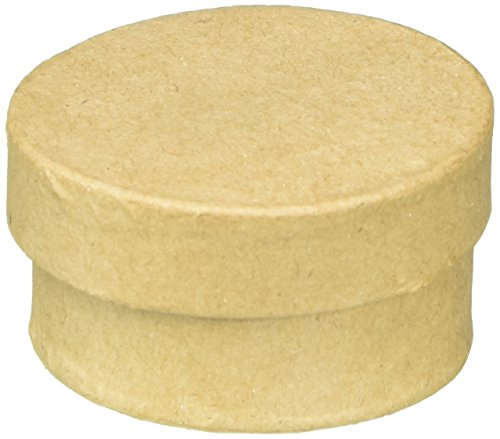 (Craft Ped Paper CPL1010963 Mache Box Bitty Round Kraft, 6 Piece)
