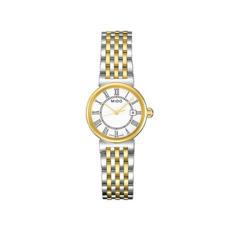 Mido M21309261 Watch Dorada Ladies M2130.9.26.1 White Dial Stainless Steel Case Quartz Movement