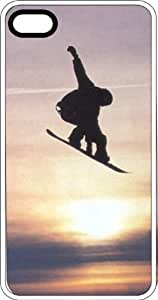 Snowboarder Jumping At Sunset White Plastic Case for Apple iPhone 6