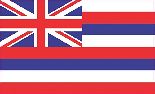 5in x 3in Hawaii Hawaiian State Flag Bumper Sticker Decal Window Stickers Car Decals (Flag Stickers Hawaii)