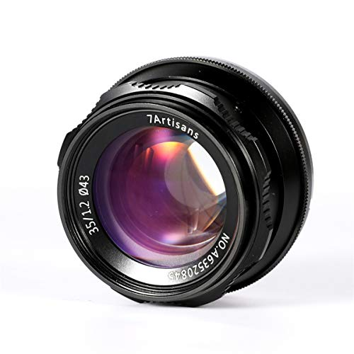 7artisans 35mm F1.2 Large Aperture Prime APS-C Manual Focus Lens for Sony E Mount Mirrorless Cameras A6500 A6300 A6100 A6000 A5100 A5000 A9 NEX 3 NEX 3N NEX 5 NEX 5T NEX 5R